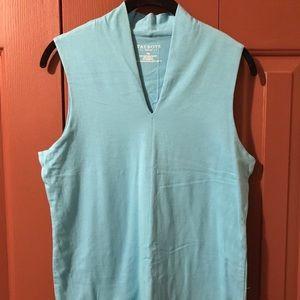 Talbots Light Turquoise Color sleeveless shirt